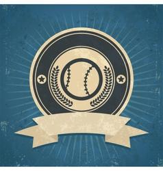 Retro baseball emblem vector