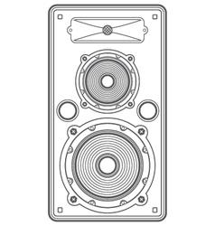 Concert outline speaker vector
