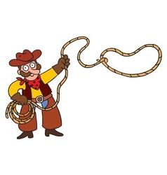 Cowboy with lasso vector