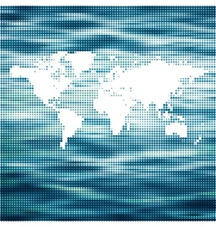 World ocean map concept vector