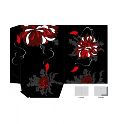 Template for gift folder vector