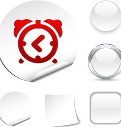 Alarm-clock icon vector