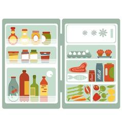 Open fridge vector
