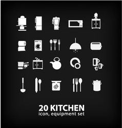 Kitchen equipment set vector