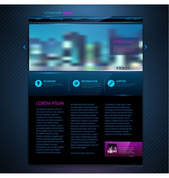 Web site template design technology background vector