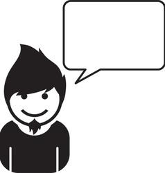 Person talking icon vector