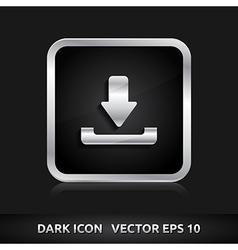 Download icon silver metal vector