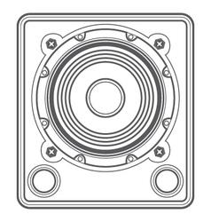 Outline concert subwoofer speaker vector