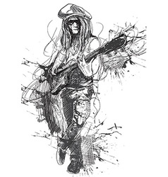 Musician - guitar player vector