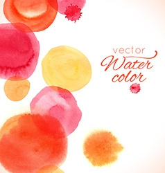 Watercolor painted splash circles texture vector
