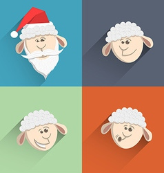 Sheep icon set3 vector