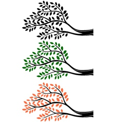Tree branch silhouette vector