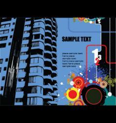 Grunge building vector