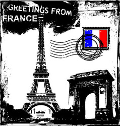 Greetings from france vector
