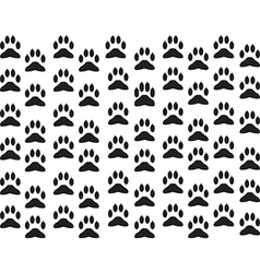 Dog foot print background vector