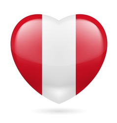 Heart icon of peru vector
