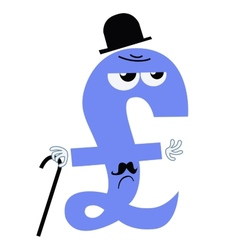 Character national currency pound sterling uk vector