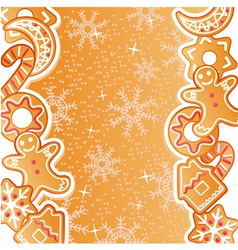 Gingerbread background vector