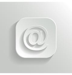 Mail icon - white app button vector