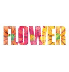 Flower sign vector