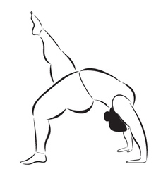 Plus size sporty woman doing yoga vector