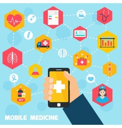 Mobile health concept vector