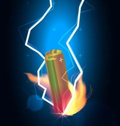 Battery power thunder vector