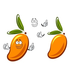 Sweet orange mango fruit cartoon character vector