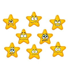 Yellow stars with negative emotions vector