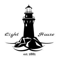 Lighthouse logo vector