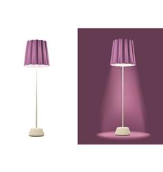Floor lamp vector