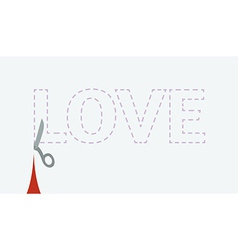 Love cutout vector
