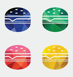Sandwich icon abstract triangle vector