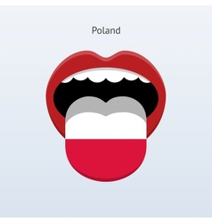 Poland language abstract human tongue vector