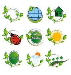 Natural elements for design vector