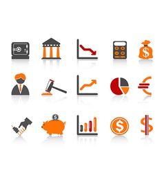 Simple bank iconscolor series vector