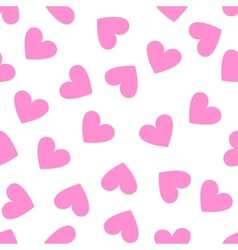 Seamless vintage white heart pattern on pink vector