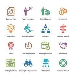 Business icons set 3 - colored series vector