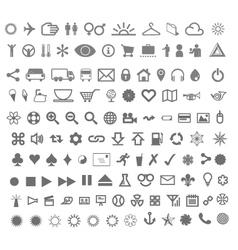 Complete icon set vector