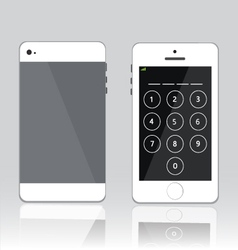 Password on white phone vector