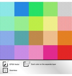 Set of twenty colorful seamless textures vector