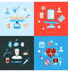 Surgery medical icons design concept vector