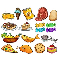 Food and dessert vector