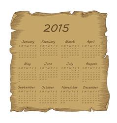 Aged scroll calendar 2015 vector