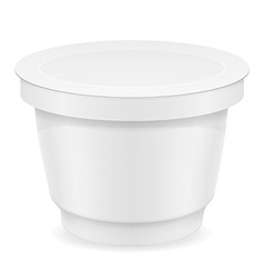 Plastic container of yogurt or ice cream 04 vector