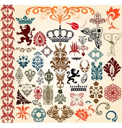 Heraldry elements vector