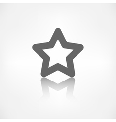 Star favorite sign web icon vector