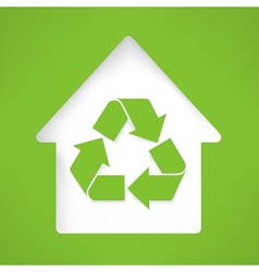 House with recycling symbol vector