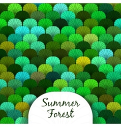 Summer forest scaly texture vector