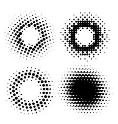 Halftone radial elements vector